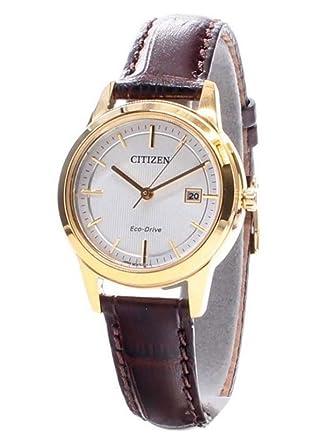 Citizen - Reloj de Pulsera analógico para Mujer Cuarzo Piel fe1083 - 02 A: Amazon.es: Relojes