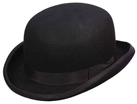 Capas Low Crown Wool Felt Satin Lined Derby Hat at Amazon Men s ... 6b5a0fb3092