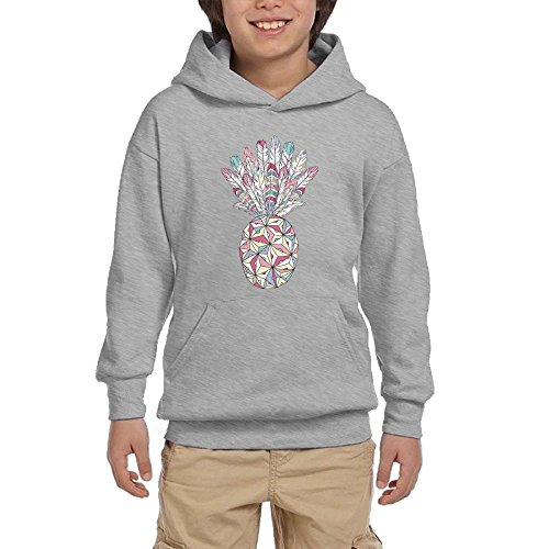 Pineapple Prismatic Girls Pullover Hoodie Athletic Pocket Sweater
