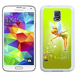 Durable Galaxy S5 Case,DIY I9600 Case Design with Tinkerbell Samsung Galaxy S5 SV I9600 Phone Case in White