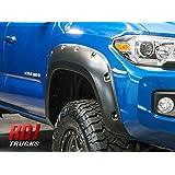 RDJ Trucks PRO-Offroad Bolt-On Style Fender Flares - Fits Toyota Tacoma 2016-2021 - Set of 4 - Aggressive Textured Black