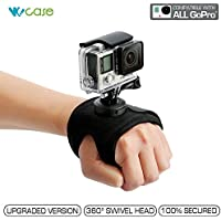 WoCase 360 Degree Panoramic Swiveling Glove Mount Hand Mount (Compatible with left handed) for GoPro HERO4 HERO3+ 3 2 1 Cameras (Rotary Mount, Retail Package, Gifting Ready)
