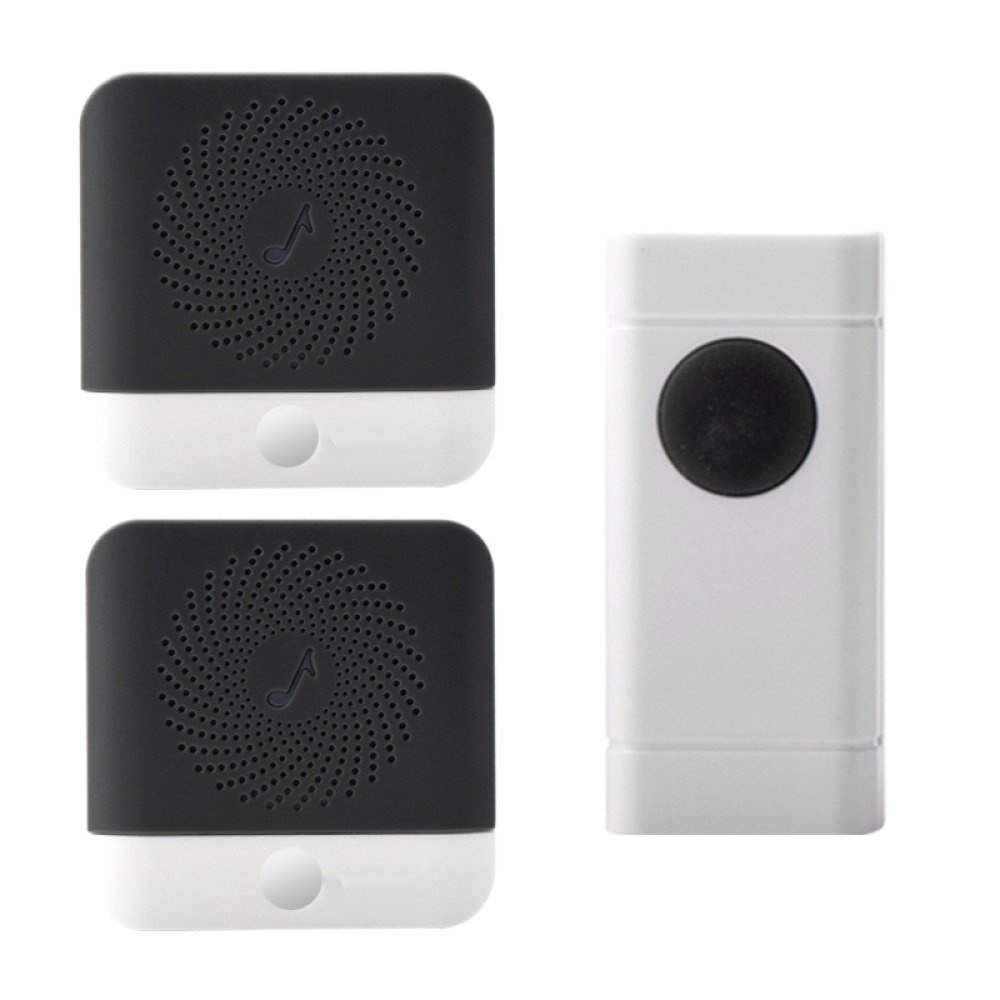 Remote Wireless Doorbell Home Elderly Patientr Emergency Alarm Call Ringer,White(2Host+1Button) by ANHPI