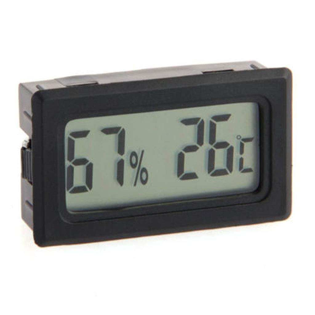 MSNDD High Accuracy LCD Digital Thermometer Hygrometer Electronic Temperature Humidity Meter Clock Weather Station Indoor
