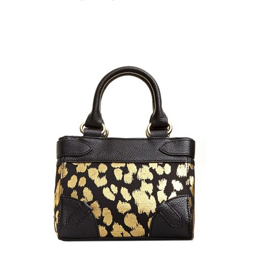 Juicy Couture Beverly Leopard Mini Daydreamer Crossbody Handbag Black/Gold