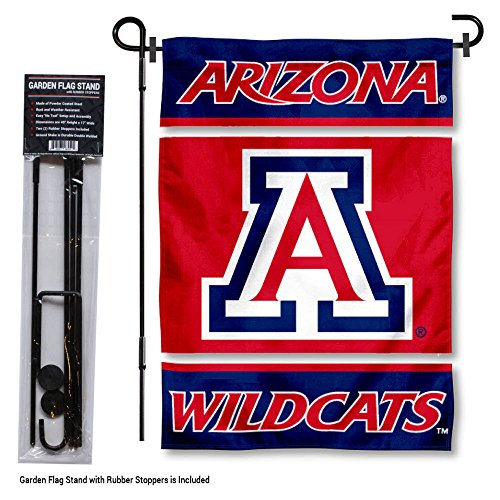 College Flags and Banners Co. Arizona Wildcats Garden Flag with Stand Holder ()