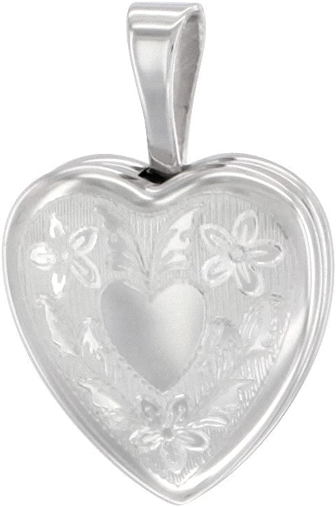 Sacramento Mall Very Tiny 1 2 inch Sterling Silver Necklace Locket for Gir Heart Lowest price challenge