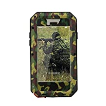 R MAO-Aluminum Metal Case for iPhone 5//5S iPhone SE[Camouflage Army],[Military Heavy Duty]Camo,Waterproof/Shockproof Gorilla Glass Protection Cover Case