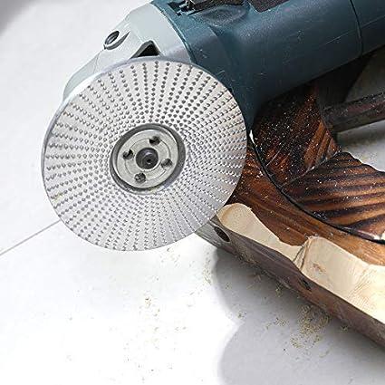 Pon/çage outil Rotatif pour Sculpter Disque Abrasif pour Meuleuse DAngle Al/ésage en Tungst/ène 5//8 Pouces Treasurem Meule Angle en bois pour Meuleuses