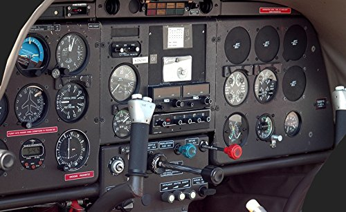 Home Comforts Laminated Poster Instrument Panel Gauges Airplane Cockpit Aircraft Poster Print 24 x ()
