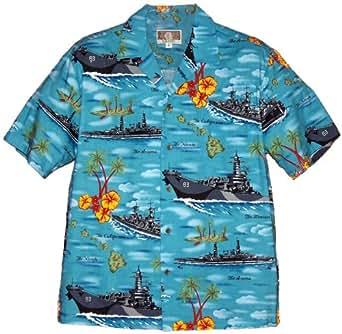 Navy Ships in Hawaii Hawaiian Shirts - Mens Hawaiian