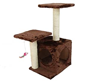 ZHENGDY Gatos Árbol,Natural Sisal Felpa Gatos Casa Y Robusto Gatos Juego Actividades Plataformas,Brown: Amazon.es: Hogar