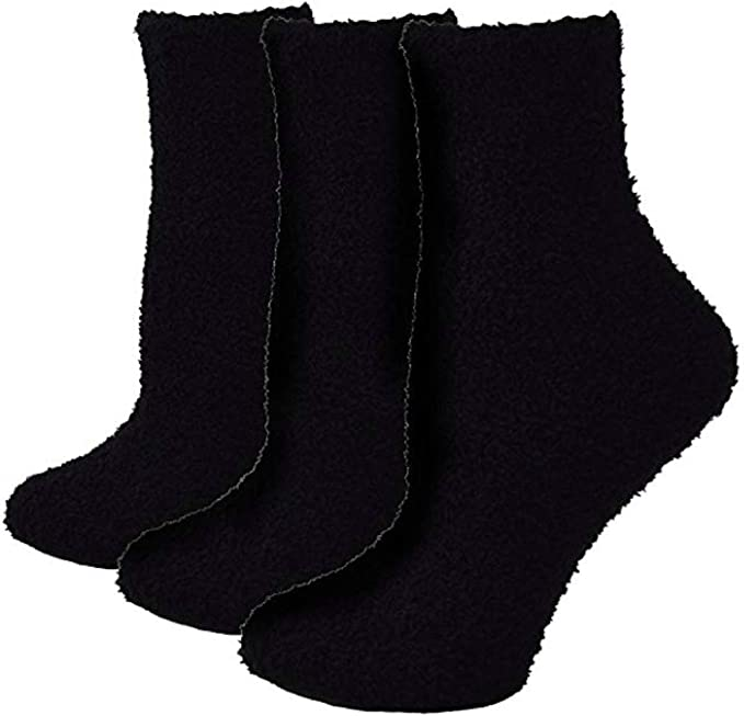9-11 3 Pairs New Mens Thermal Winter Warm BED Boots Wool Crew Socks Size WARM