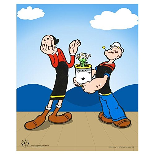 """Popeye Spinach"" Limited Edition Popeye Sericel with Official King Features Syndicate Seal - Fine Art - Authentic"