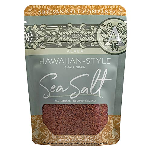 SaltWorks Sea Salt, Alaea Red Hawaiian-Style, 4 Ounce (Hawaiian Clay Red)