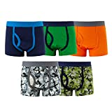 MAMABIBI Boys Boxer Briefs Big Camo Cotton Underwear 5 of Pack