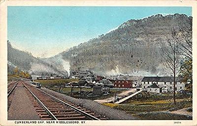 Middlesboro Kentucky railroad train Cumberland Gap scenic view Antique PC Z10882