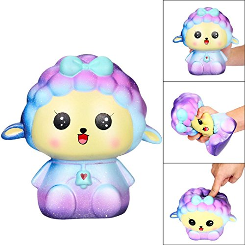 LIKESIDE 18cm Squishy Jumbo Big Galaxy Sheep Slow Rising Cream Squeeze Scented Cure Toys