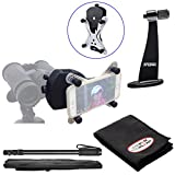 Snypex X-Wing SPA1 Universal Smartphone Adapter for Binoculars & Spotting Scopes with Tripod Adapter + Monopod + Kit