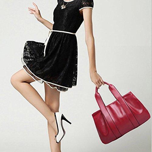 YYW Leather Handbags - Bolso mochila  para mujer negro