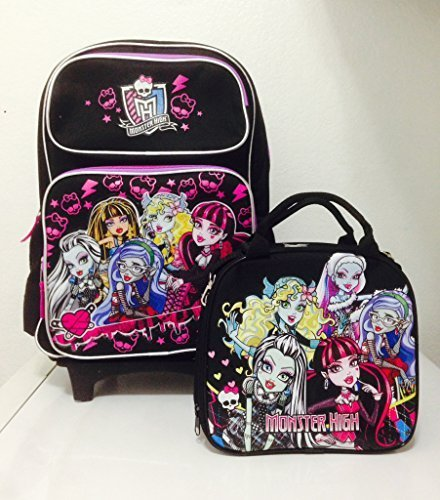 Monster High Rolling Backpack with Detachable Wheeled Trolley 16