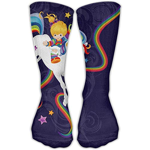 ZOZGETU Rainbow Brite Sport Tube Stockings Women Men Knee High Long Soccer Socks (Long ()