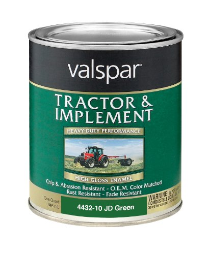 Valspar 4432-10 John Deere Green Tractor and Implement Paint - 1 Quart