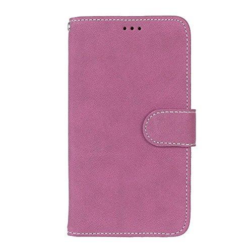 SRY Caja de la cartera de cuero superior de la PU con la ranura para tarjeta de la cubierta protectora folio de la caja del tirón del soporte para la nota 3 de la galaxia de Samsung ( Color : White ) Rose