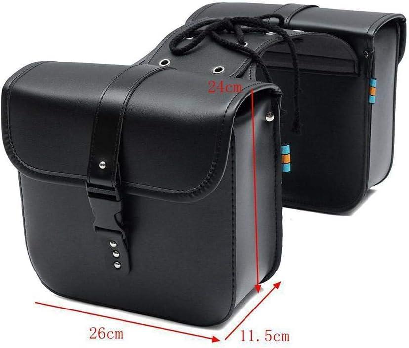 G-wukeer 26 X 24 X 11,5 Cm Borse da Sella Moto Borse da Sella Universali in Pelle PU Accessori Moto per Honda Shadow Suzuki