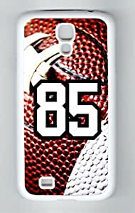 Football Sports Fan Player Number 85 White Rubber Decorative Samsung Galaxy S5 Case