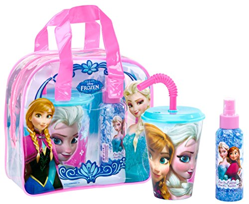 Air Val International Disney Frozen Coffret: Eau De Toilette Spray 100ml + Plastic Cup with Straw + Bag 2pcs+1bag