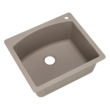 blanco 441280 diamond single basin drop in granite kitchen sink truffle - Kitchen Sink Drop In