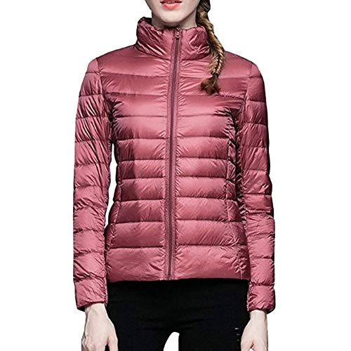 Winter Feather Tenthree Coat Parka Tempo Outwear Womens Down Bubble libero Packaged Rosa Ultralight Dolcevita Zip Jacket Portable Short Autunno rqyqpSY1