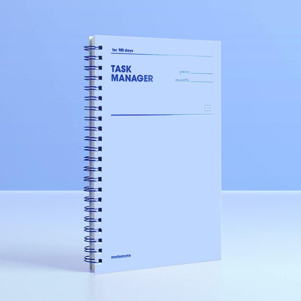 Motemote] Task Manager 100Days Color Chip (Serenity) / Study Planner/Planner