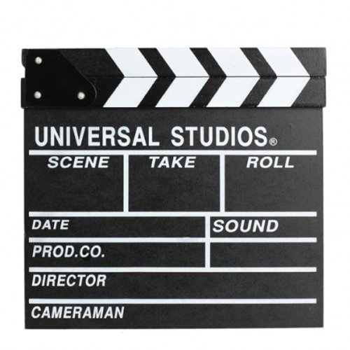 Dealglad Wooden Movie Clappers Clapper Board Director Board Movie Scene Props Big (Movie Scene Board)