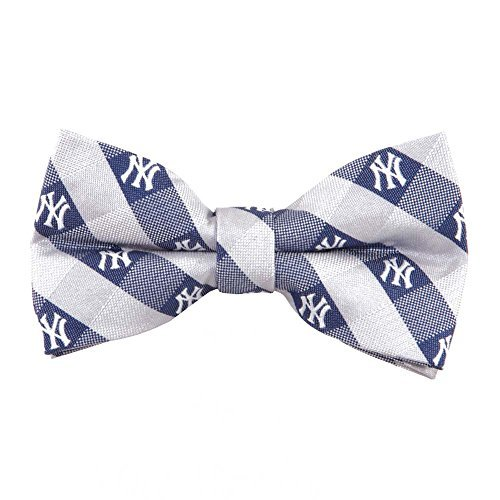 New York Yankees Checked Logo Bow Tie - MLB Baseball Team Logo ()