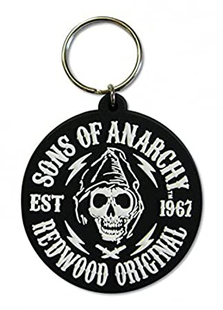 1art1 Sons Of Anarchy Keychain Keyring For Fans - Redwood Original Reaper (2 x 2 inches)