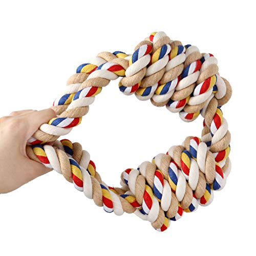 HOLECO Dog Rope Toy Durable Indestructible Dog Toys Chew Toy for Small Medium and Large Dogs