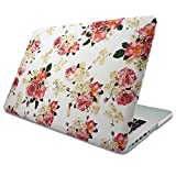 """MacBook Pro 13"""" w/ Retina Display Floral Rose Pattern Case Cover, Novo Rubberized Hard Shell w/ Soft Touch Matte Finish, Durable & Light, Best Protection for Your Apple MBP 13 inch Retina (No CD-ROM)"""