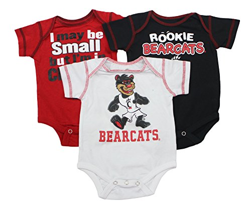 Outerstuff Baby Cincinnati Bearcats Rookie 3 Piece Creeper Set