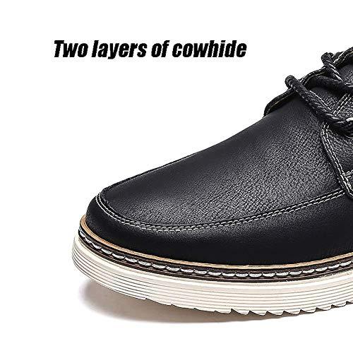 5 Cuero Hombres para UK 6 UK cómodos 5 5 Casuales Negro HhGold Color Hombre tamaño Azul de Azul 7 Zapatos Color 7 6 de US 5 Zapatos para US Hombres tamaño Xwfvt