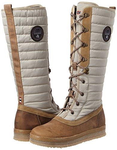 NAPAPIJRI FOOTWEAR Gaby, Botas de Nieve Para Mujer, Beige (Brown/Khaki), 40 EU
