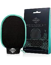 Dermasuri Deep Exfoliating Mitt Body Scrub for Soft Skin - Skin Cleanser - Part of the Best Body Care Kit for Women & Men - Dead Skin Remover for Body - Exfoliator Tool