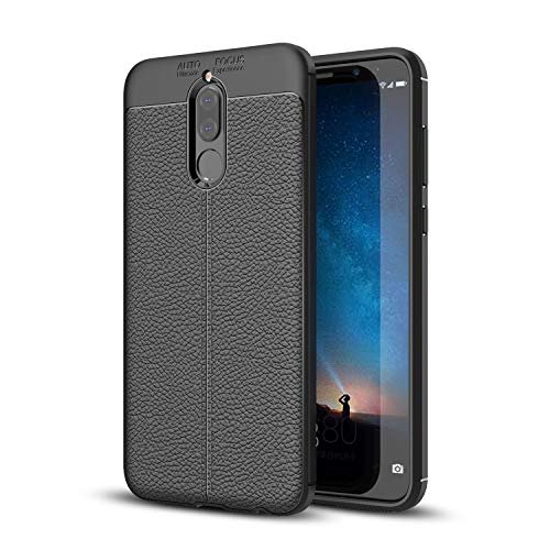 "SsHhUu Case for Huawei Maimang 6 Soft TPU Silicon PU Leather Anti-Scratch Shock Absorption Ultra Thin Stylish Cover with Stylus Pen & Kickstand for Huawei Maimang 6 / Huawei Mate 10 Lite (5.9"") Black"