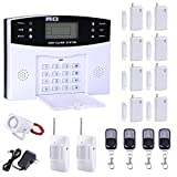 Yescom GSM Home Keypad Security Burglar Alarm System Kit 99 Wireless and 8 Wired Zones White 17 Pcs