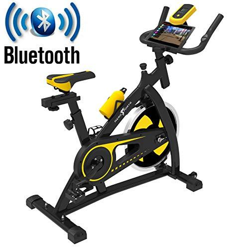 Nero Sports Bluetooth Upright Exercise Bike Indoor Studio Cycles Aerobic Training Fitness Cardio Bike 12kg Spinning…