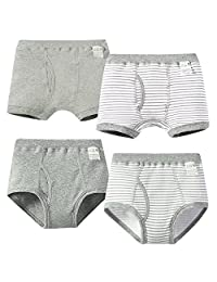 Happy Cherry 4pcs Organic Cotton Trunk Underwear Striped Boxer for 2-6 Years Boy