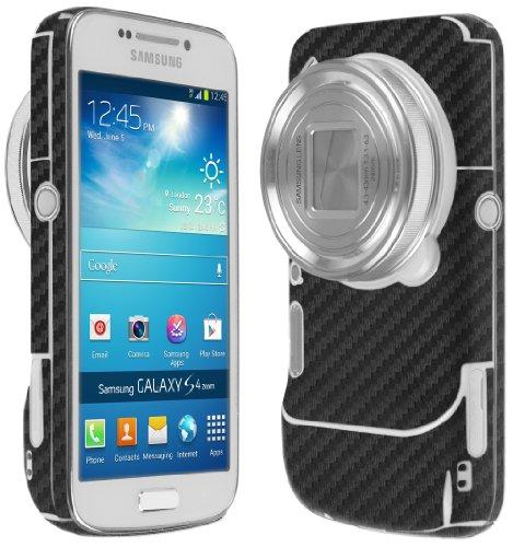 Skinomi Samsung Galaxy S4 Zoom Screen Protector + Carbon Fiber Full Body (cm-c1010), TechSkin Carbon Fiber Skin for Samsung Galaxy S4 Zoom with Anti-Bubble Clear Film Screen