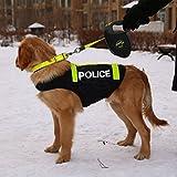 Colorfulpets Police Dog Pet Costume for Medium to Large Dogs Large Dog Vest (XXL)