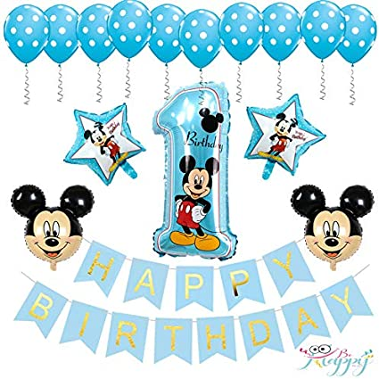 """19/"""" Mickey Mouse Star /& Minnie Mouse Heart Foil FLAGS Birthday Party Balloons"""